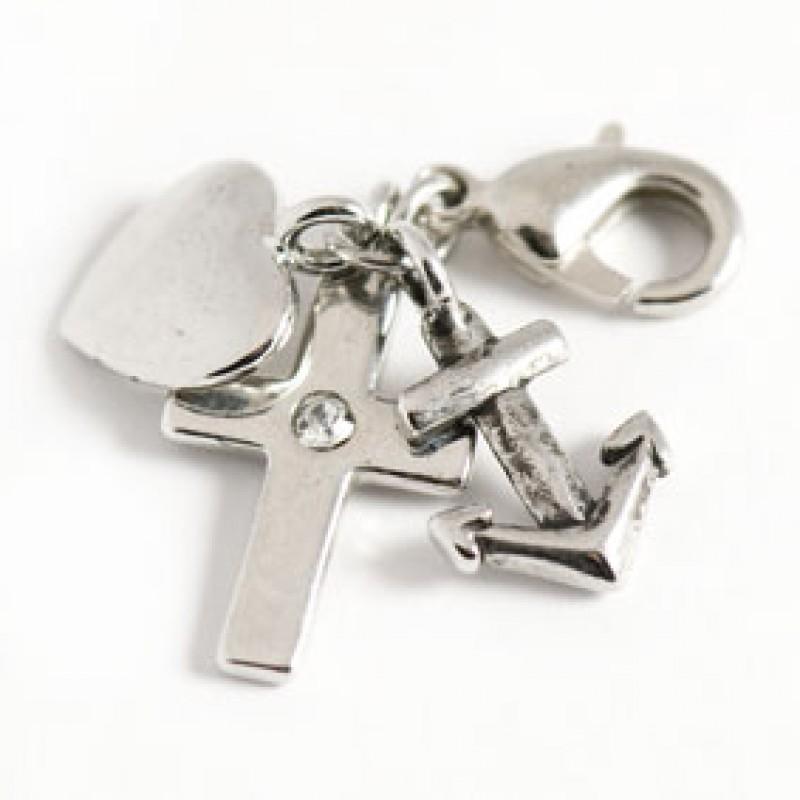 larenza zilveren bedel hoop geloof liefde (925)